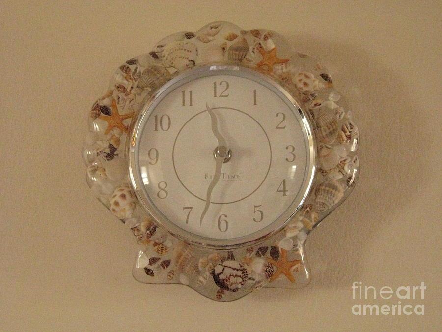 Time Photograph - Sea Shells Time by Sonali Gangane