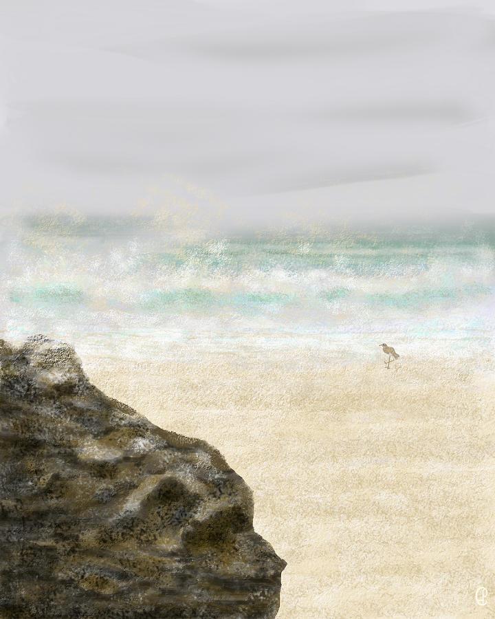 Ocean Painting - Sea Song by Peri Craig