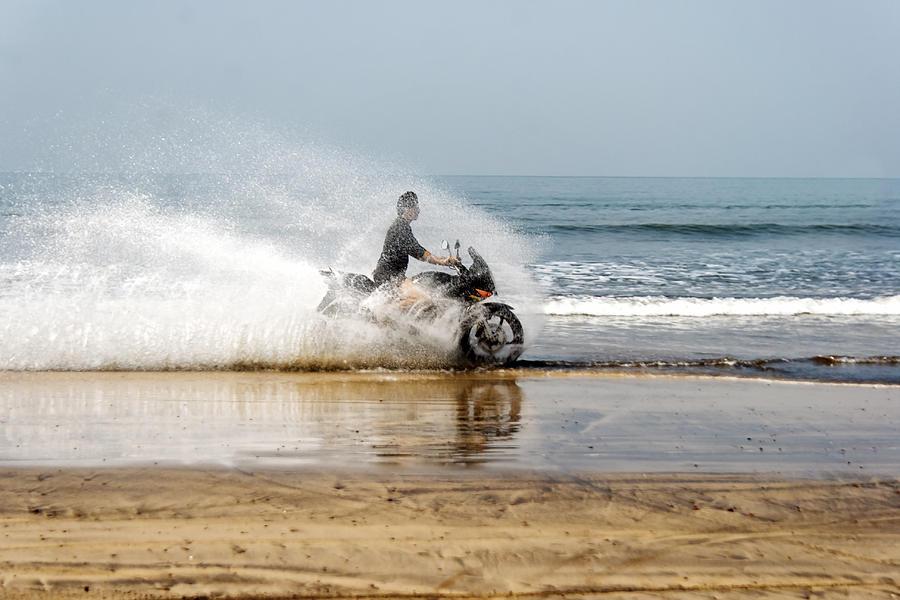 Rider Photograph - Sea Spray by Kantilal Patel