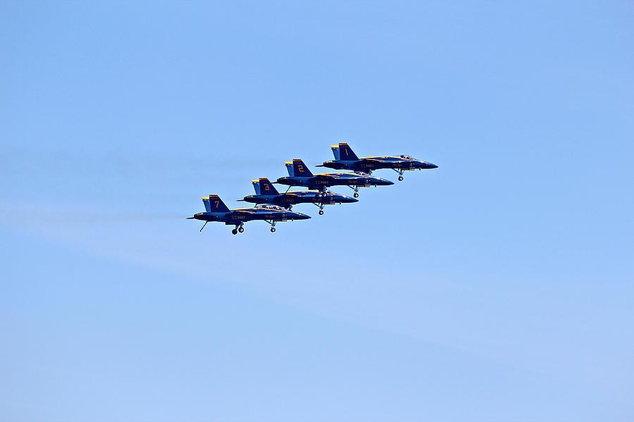 Aerobatics Photograph - Seafair Blue Angels by Paul Fell