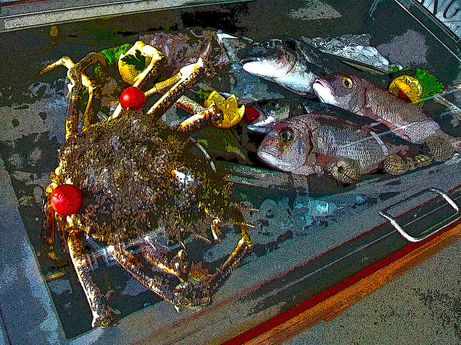 Fish Photograph - Seafood In Opatija -1 by Rezzan Erguvan-Onal