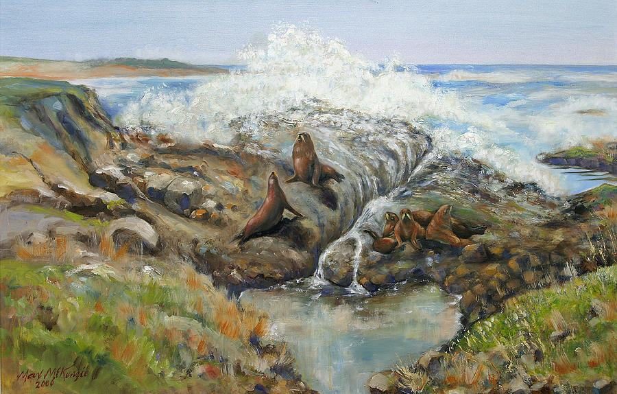 Painting - Seal Sanctuary by Max Mckenzie