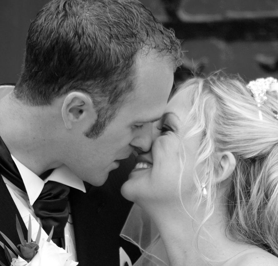 Bride And Groom Photograph - Sealed With A Kiss by Karen Grist