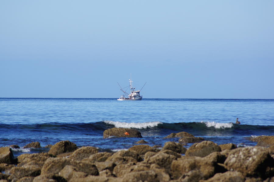 Boat Photograph - Searching For Crab by Angi Parks