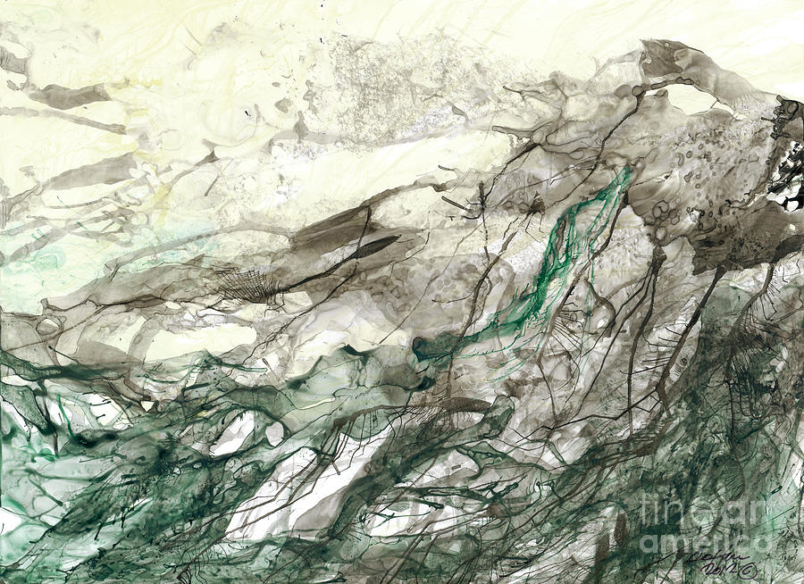 Abstract Painting - Seascape 04 by David W Coffin