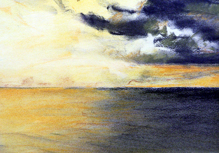 Seascape And Sky Painting by Jon Shepodd