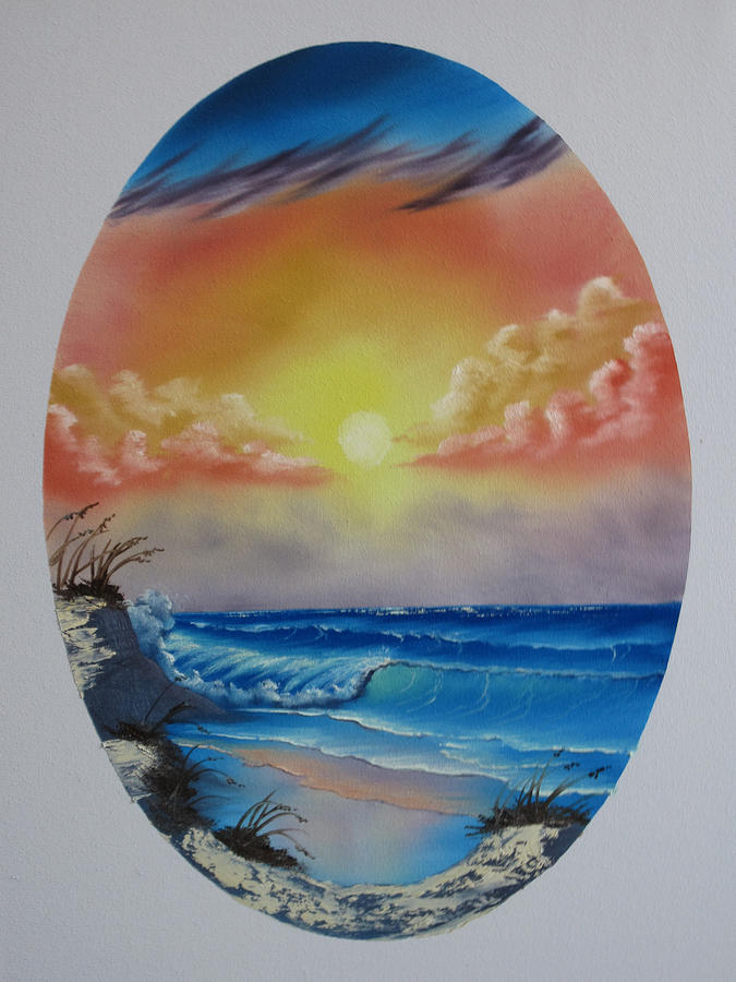 Seascape Painting - Seascape  by Kevin Hill