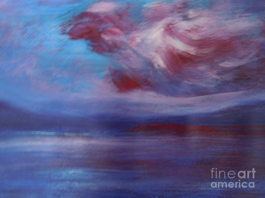 Abstract Painting - Seascape by Lam Lam