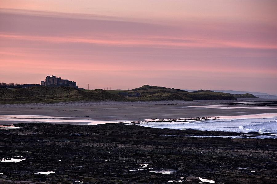Coastal Photograph - Seashore At Sunset, Northumberland by John Short