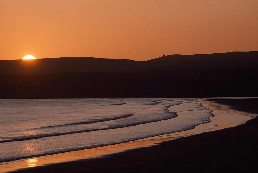 Seashore Sunset Lahinch County Clare Photograph By The