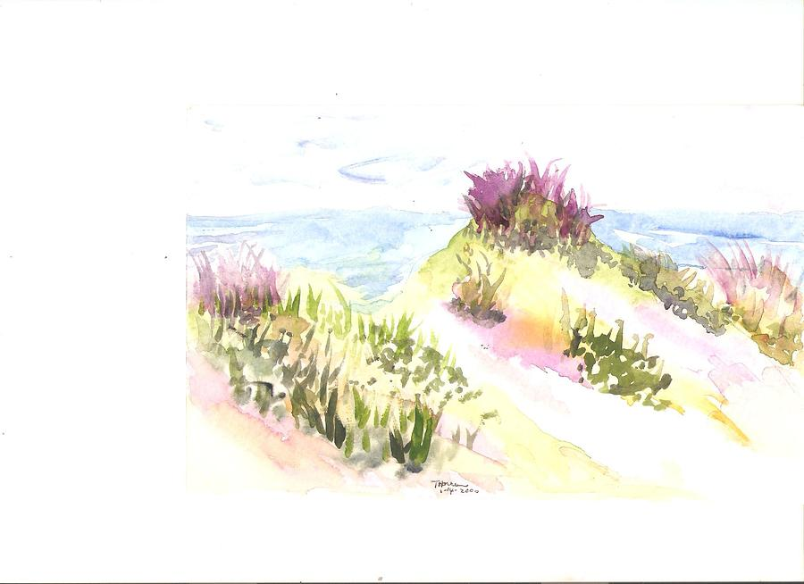Seaside Colorful Shrubs Painting - Seaside Shrubs by Thelma Harcum