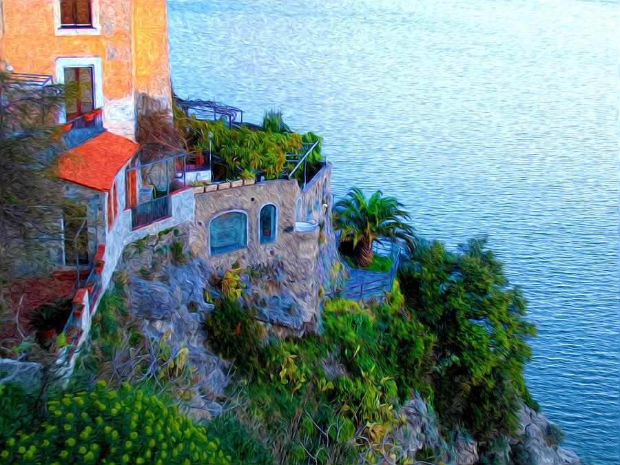 Seaside Villa Amalfi Photograph - Seaside Villa Amalfi by Bill Cannon