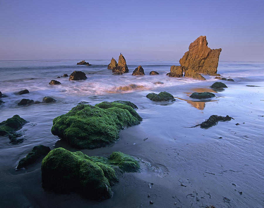 Seastacks On El Matador State Beach Photograph by Tim Fitzharris
