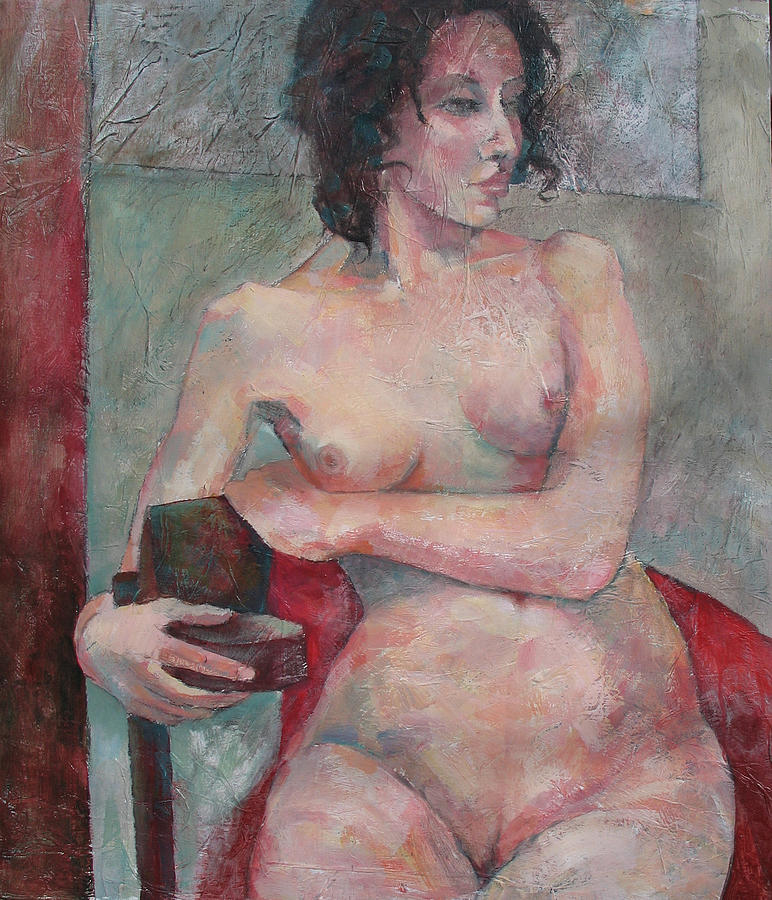 Nude Painting - Seated Nude by Susanne Clark