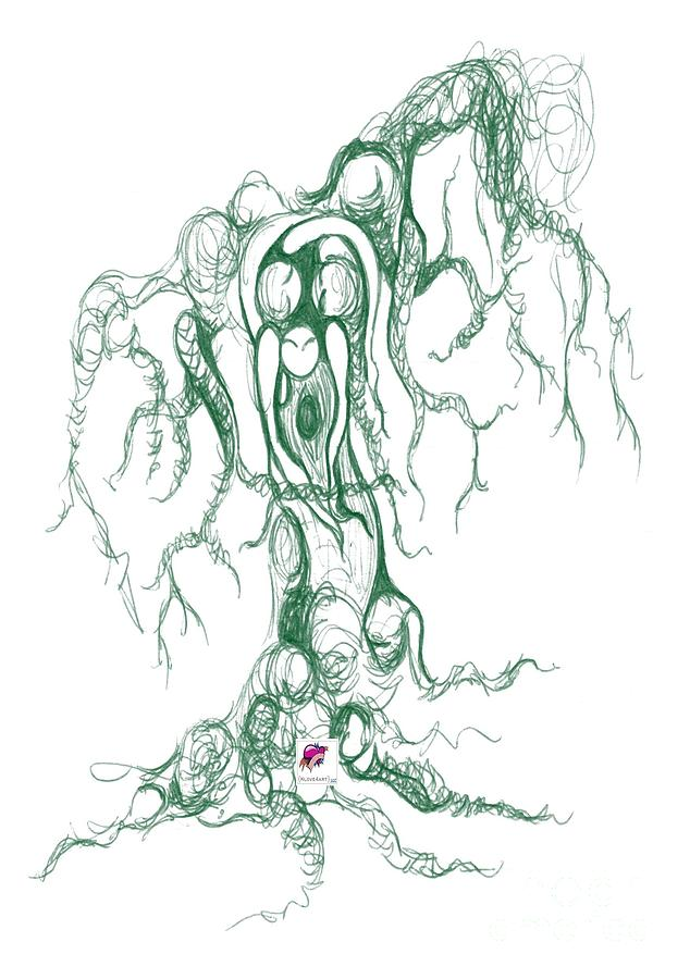Tree Drawing - Seattle Green Lake Tree by Carol Rashawnna Williams