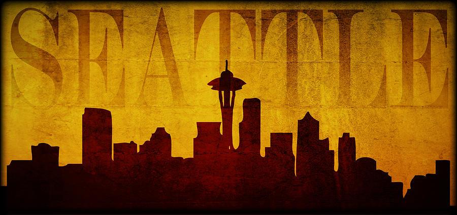 Seattle Digital Art - Seattle by Ricky Barnard