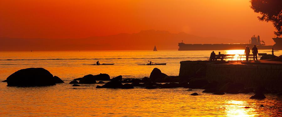 Stanley Park Photograph - Seawall Silhouette by Matt  Trimble