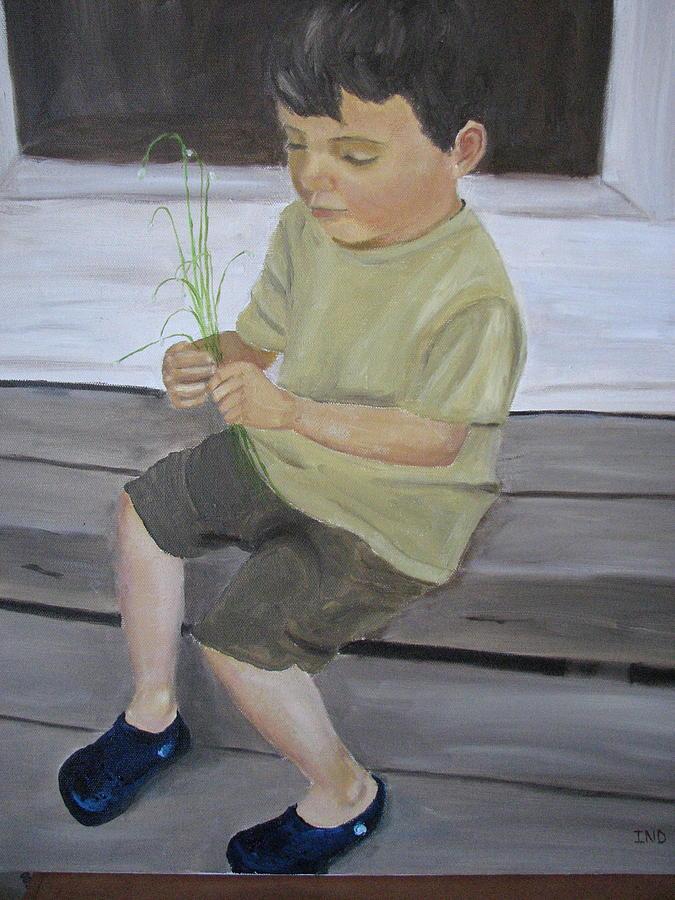 Portrait Painting - Sebastian by Iris Nazario Dziadul