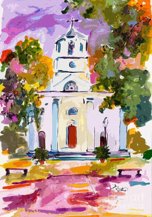 Second Presbyterian Church Charleston South Carolina Painting by Ginette Callaway