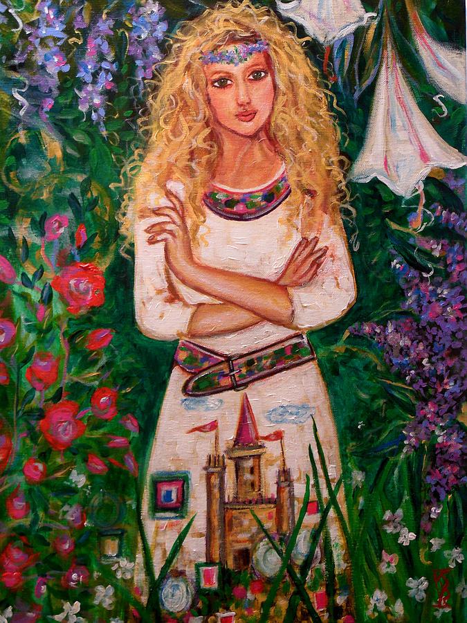 Woman Painting - Secret Castle Garden by Kimberly Van Rossum