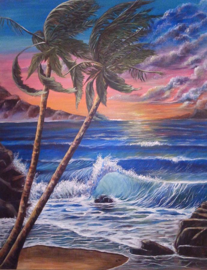 Seascape Painting - Secret Cove by Anna Gitchel
