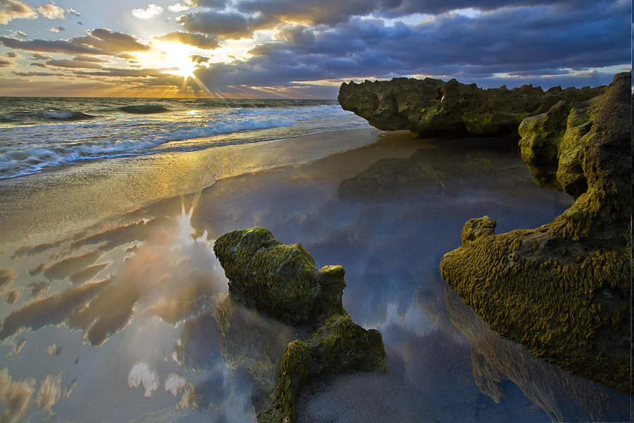 Clouds Photograph - Secret Cove by Debra and Dave Vanderlaan