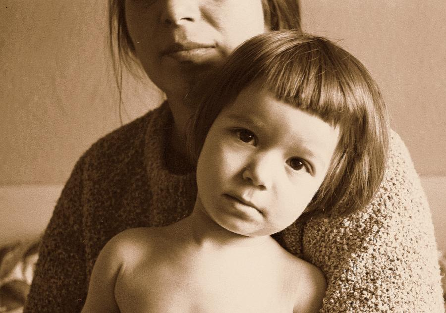 Child Photograph - Secure In Moms Arms by Ion vincent DAnu