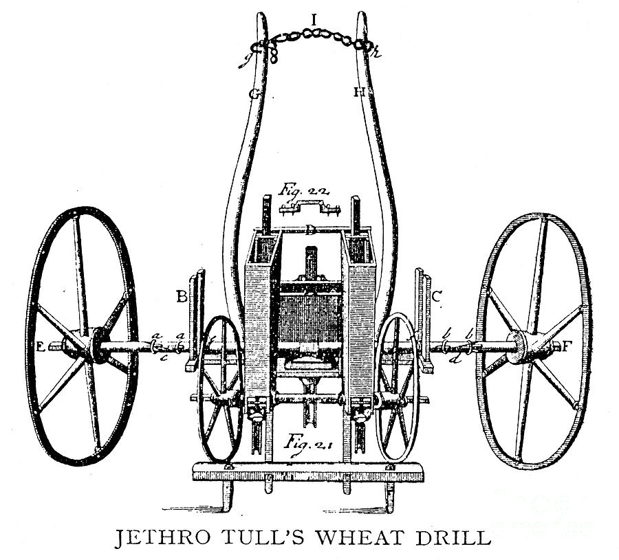 seed drill  18th century photograph by granger