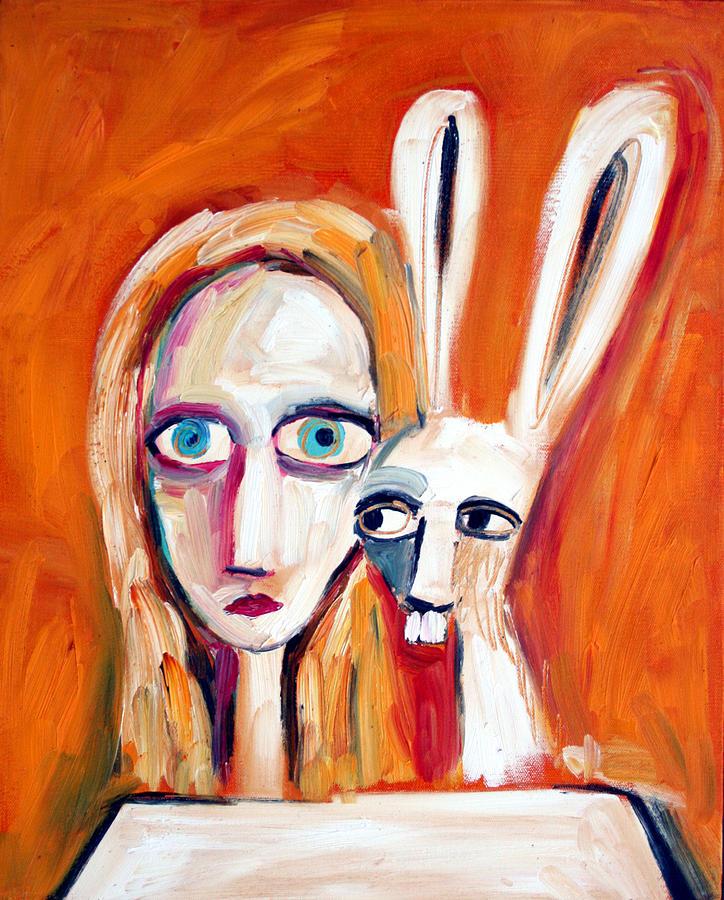 Alice In Wonderland Alice Painting - Seeking by Leanne Wilkes