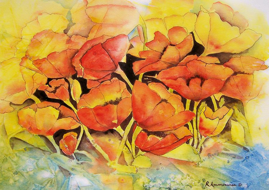 Poppies Painting - Seeking The Light by Regina Ammerman