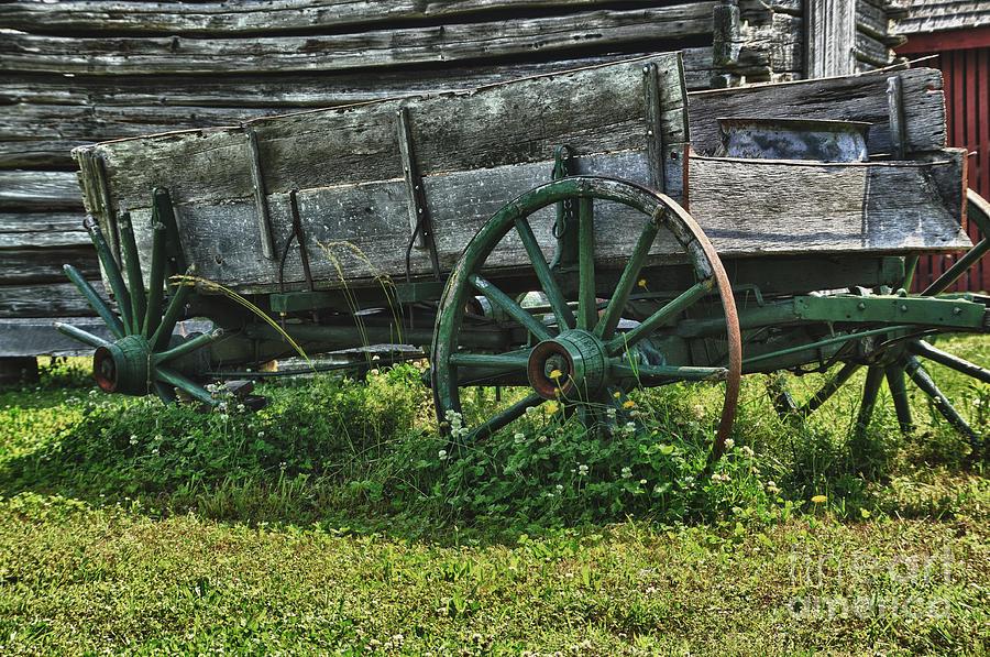 Wagon Photograph - Seen Better Days by Tamera James