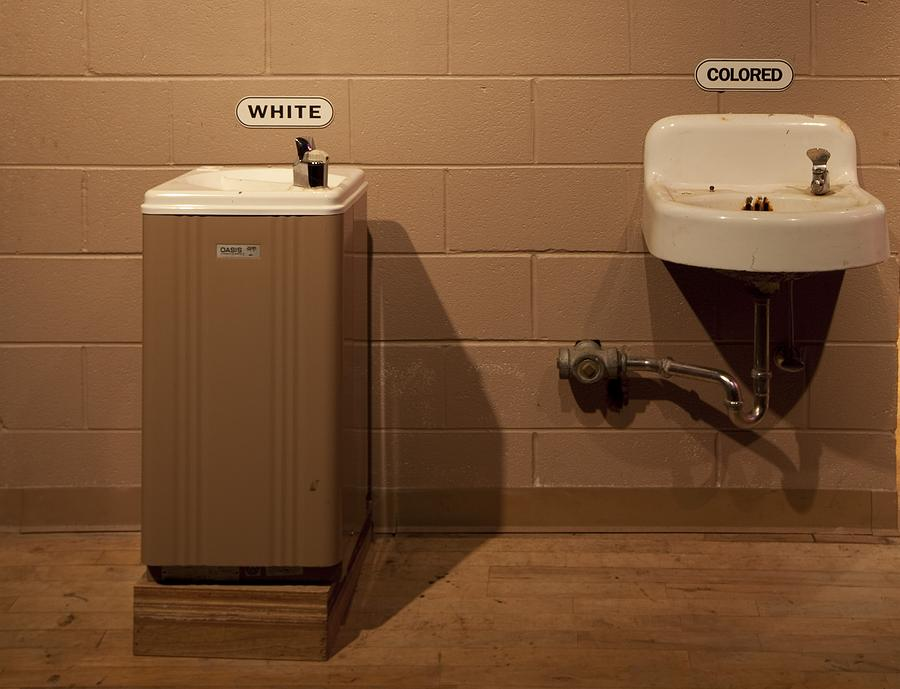 History Photograph - Segregated Water Fountains On Display by Everett