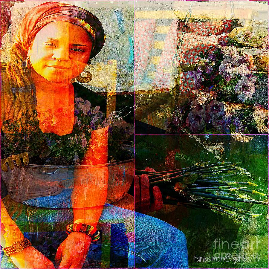 Fania Simon Mixed Media - Self - Growing Inside Out by Fania Simon