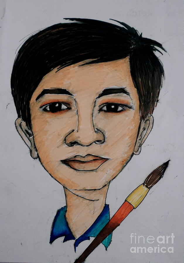 Self Carrcature Drawing by Tanmay Singh