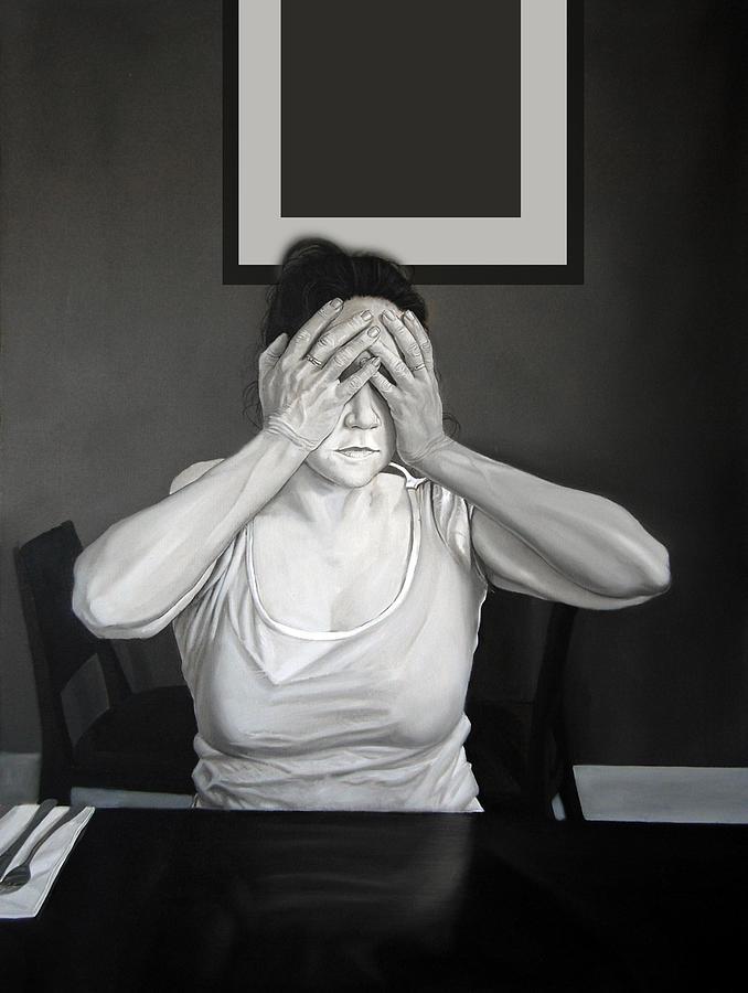 Figure Painting - Self - Censure by Michael Harris