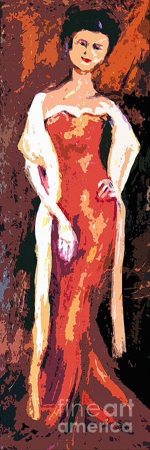 Portrait Painting - Self Portrait - Going Out by Ginette Callaway