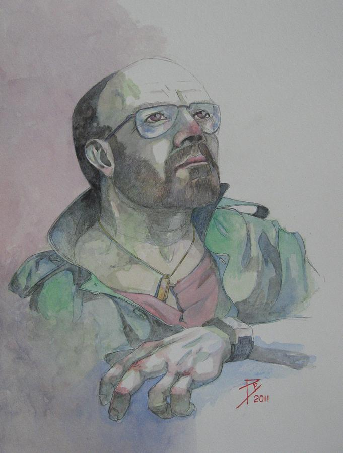 Self Painting - Self-portrait 2005 by Ray Agius