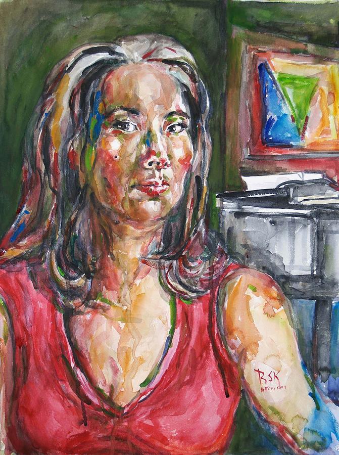 Portrait Painting - Self Portrait 8 by Becky Kim