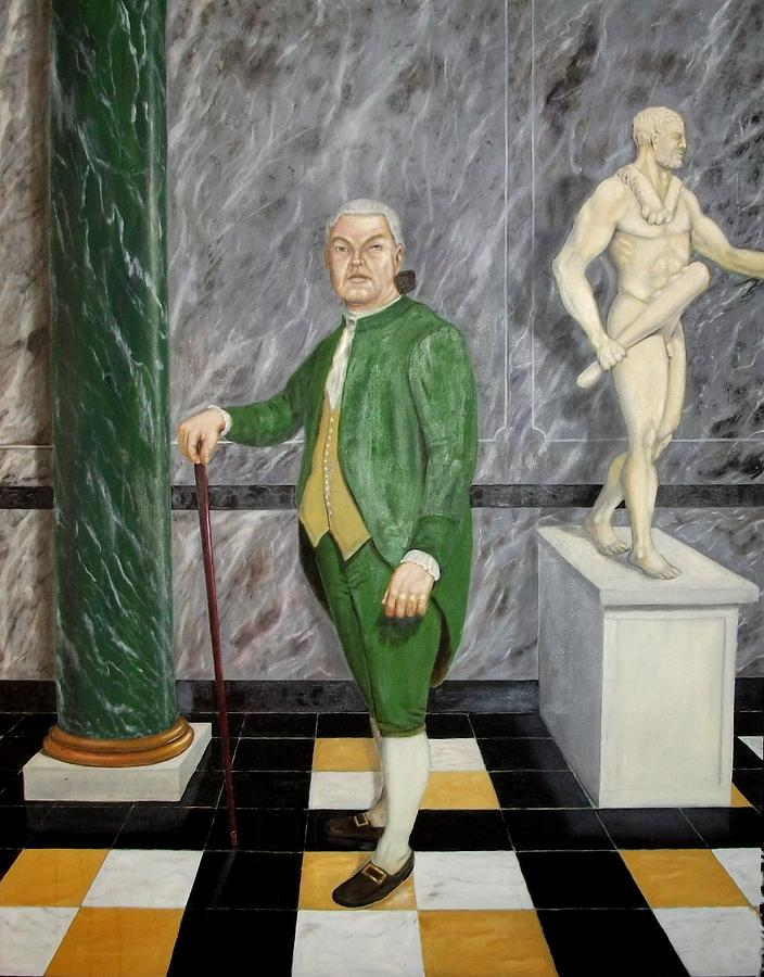 Male Painting - Self Portrait As A French Republican by Howard Bosler