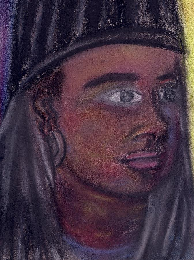 Self Portrait From 2010 Pastel by Cecelia Taylor-Hunt