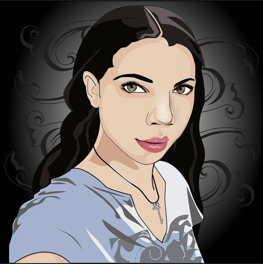 Vector Digital Art - Self Portrait by Jessica Jimerson