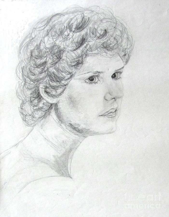 Self Portrait Drawing - Self Portrait by Julie Coughlin