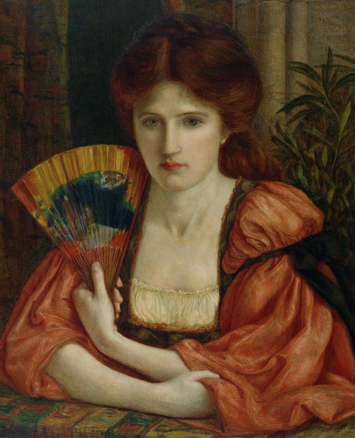 Beauty Painting - Self Portrait by MS Stillman