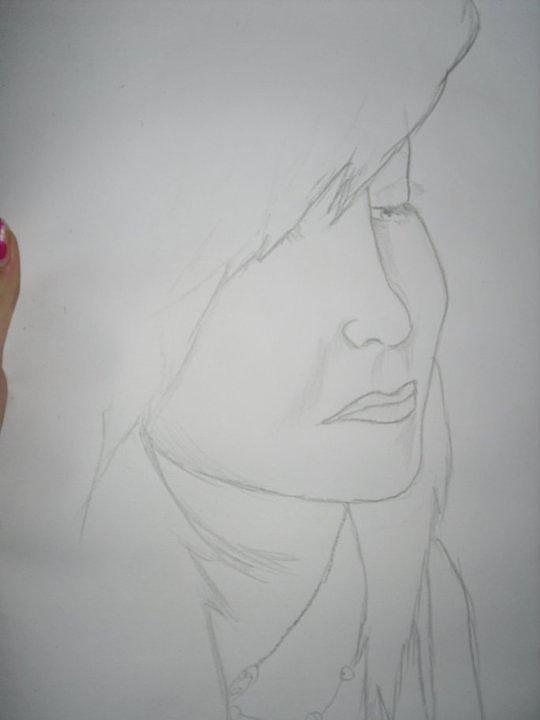 Self Portrait Drawing by Natasha Hopman