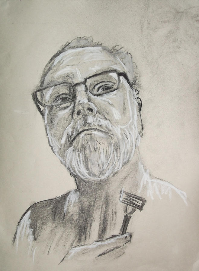 Portrait Drawing - Self Portrait by Peter Edward Green