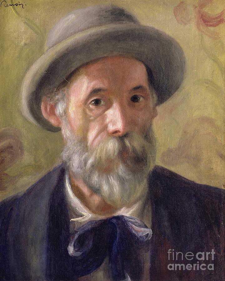Pierre Auguste Renoir Painting - Self Portrait by Pierre Auguste Renoir