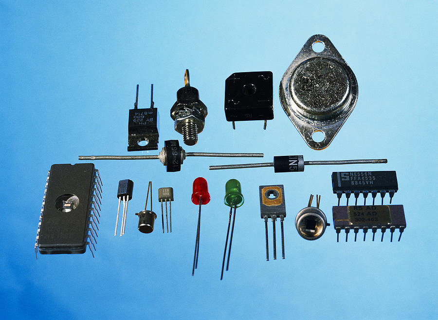 Microchip Photograph - Semiconductor Components by Andrew Lambert Photography