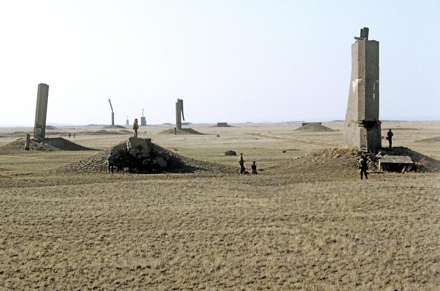 Ground Photograph - Semipalatinsk Nuclear Test Site by Ria Novosti