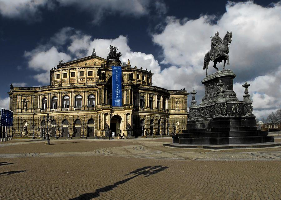 Semperoper Photograph - Semper Opera House Dresden - A Beautiful Sight by Christine Till