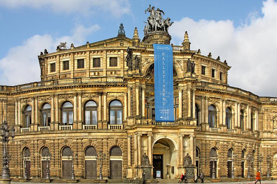 Semperoper Photograph - Semper Opera House Dresden by Christine Till